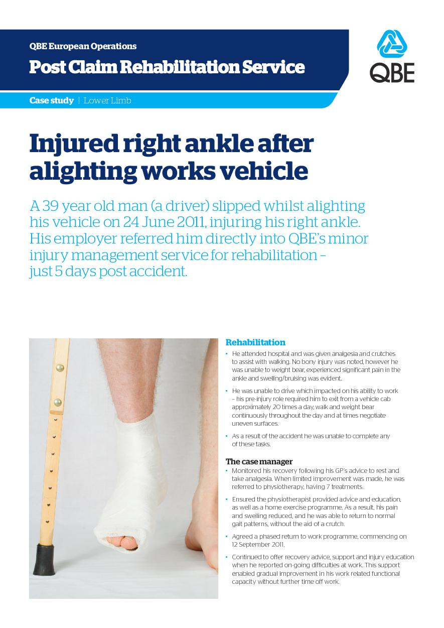 Injured right ankle after alighting works vehicle (PDF 1.4Mb)