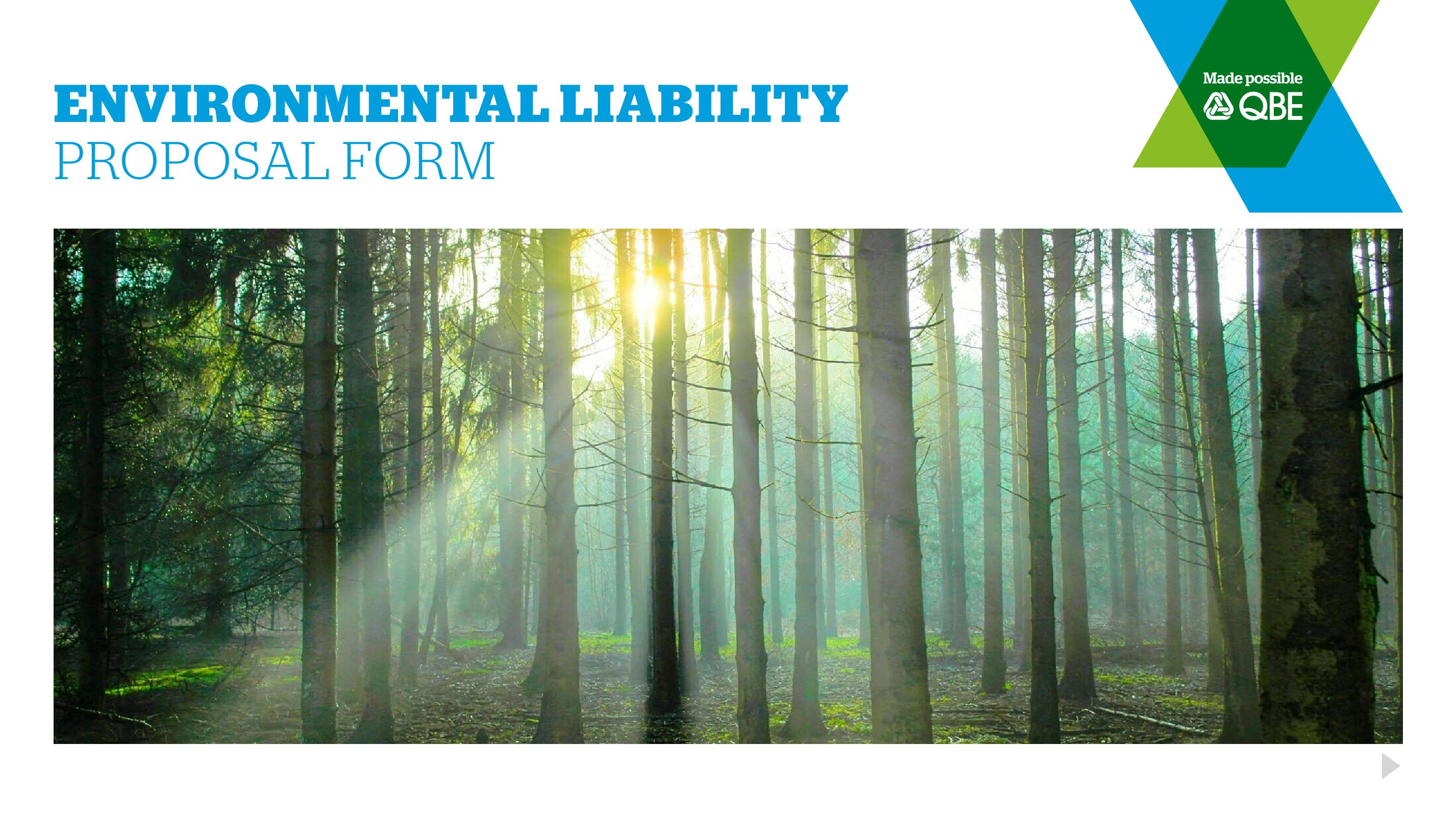 Environmental Liability Proposal Form (PDF 1.0Mb)