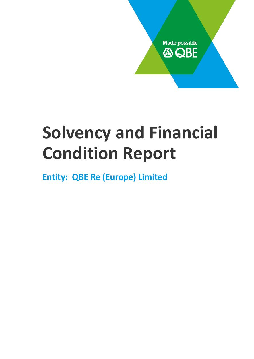 Solvency and Financial Condition Report - QBE Re (Europe) Limited