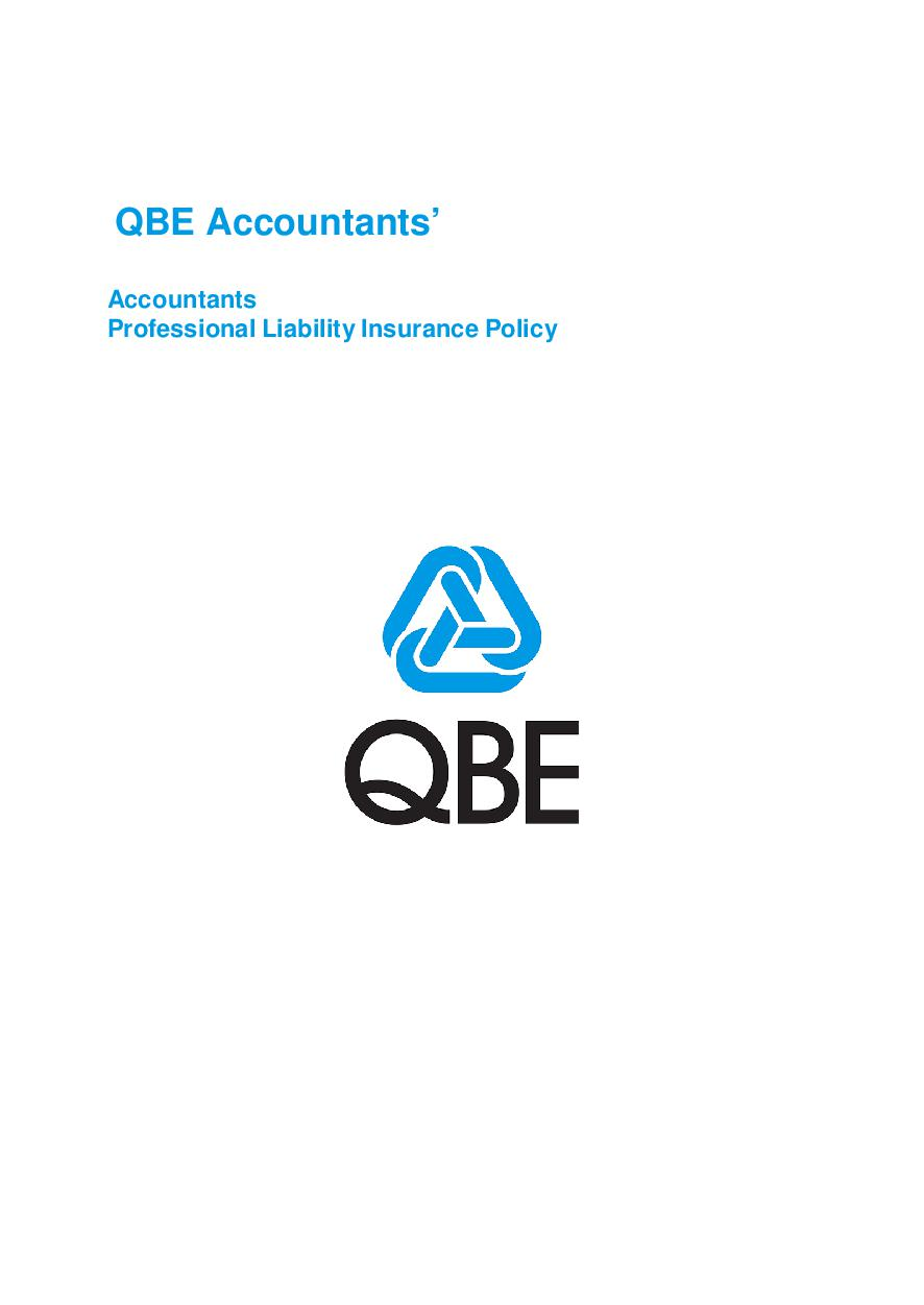 PJPP050517 QBE Accountants Professional Liability Policy