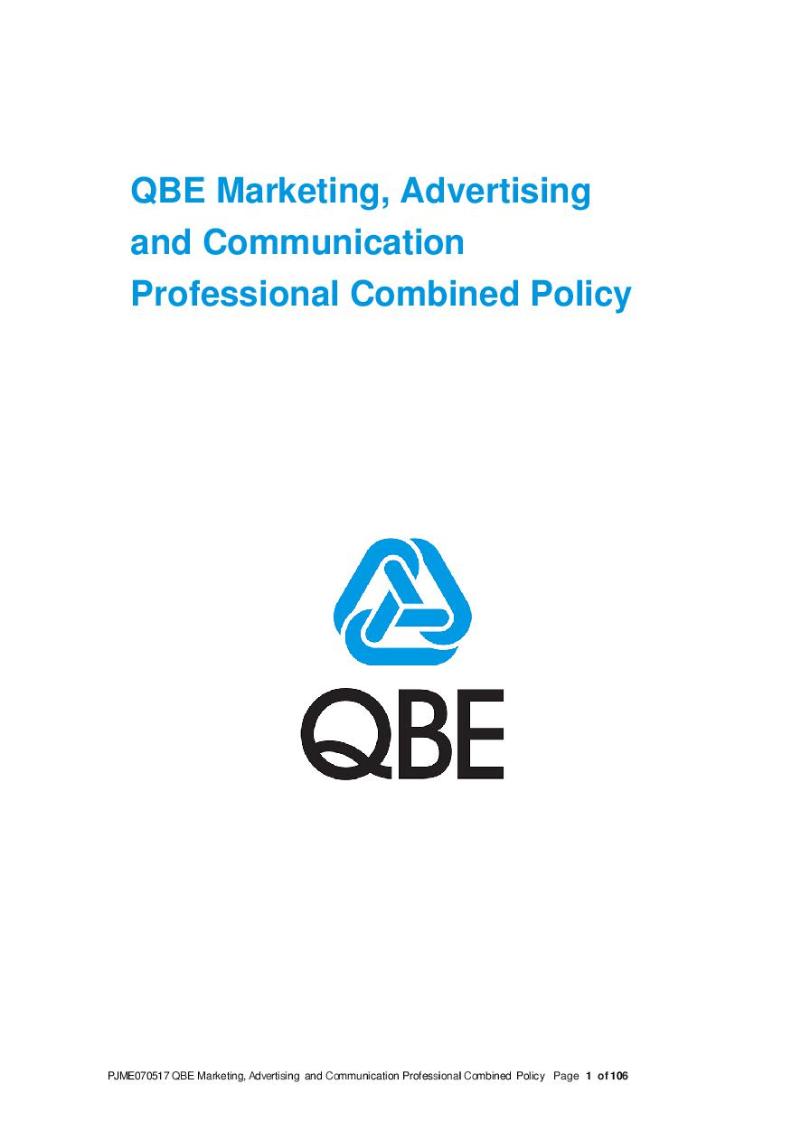 ARCHIVE - PJME070517 QBE Marketing Advertising and Communication Professional Combined