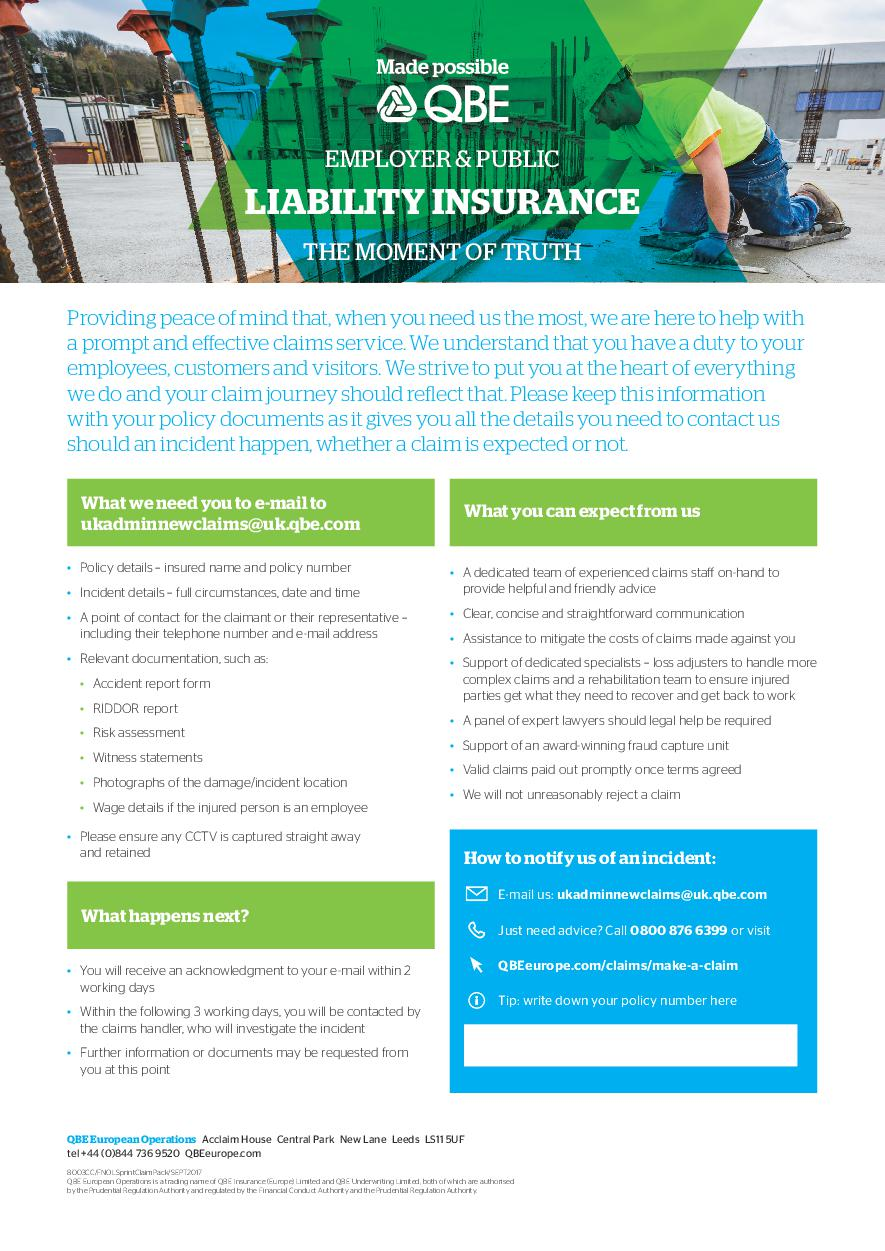 Employer and Public Liability Insurance - The Moment of Truth