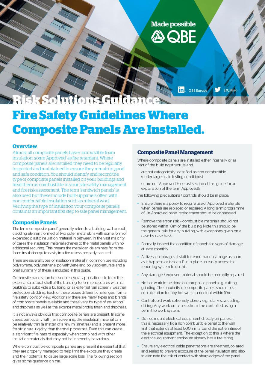 Composite Panel Fire Safety Guidance - Email Version