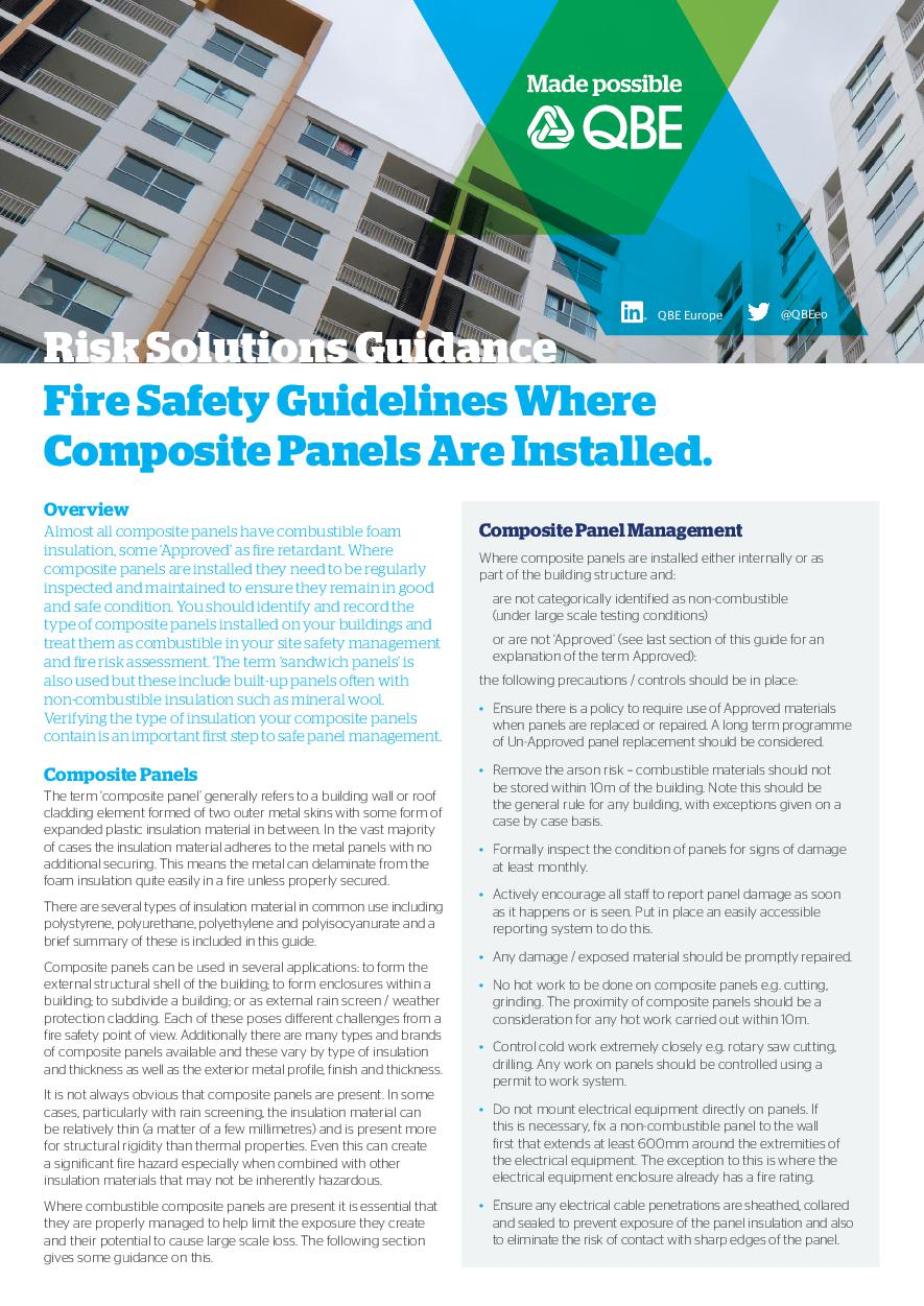 Composite Panel Fire Safety Guidance - Print Version