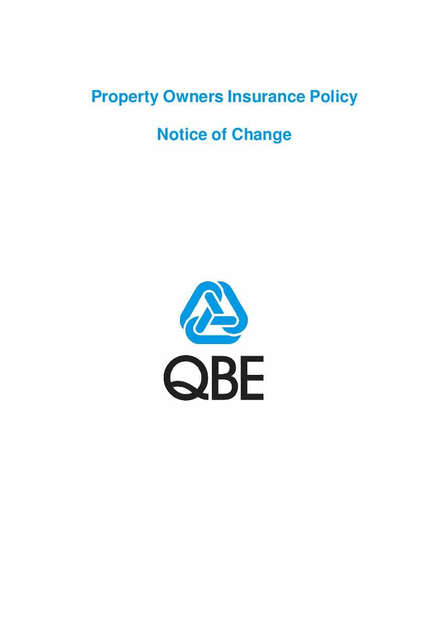 ARCHIVE - NPOF051017 Property Owners Insurance Notice of Change