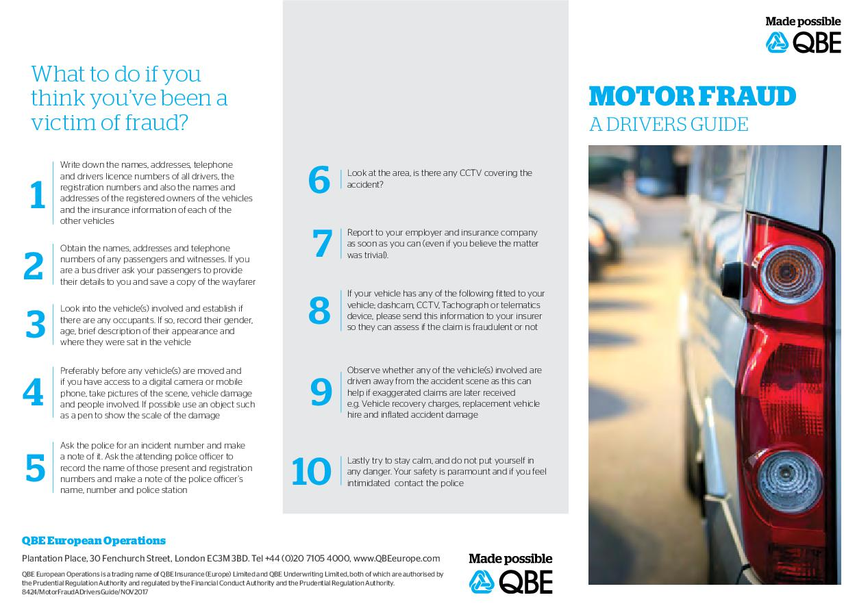 Motor Fraud - A Drivers Guide