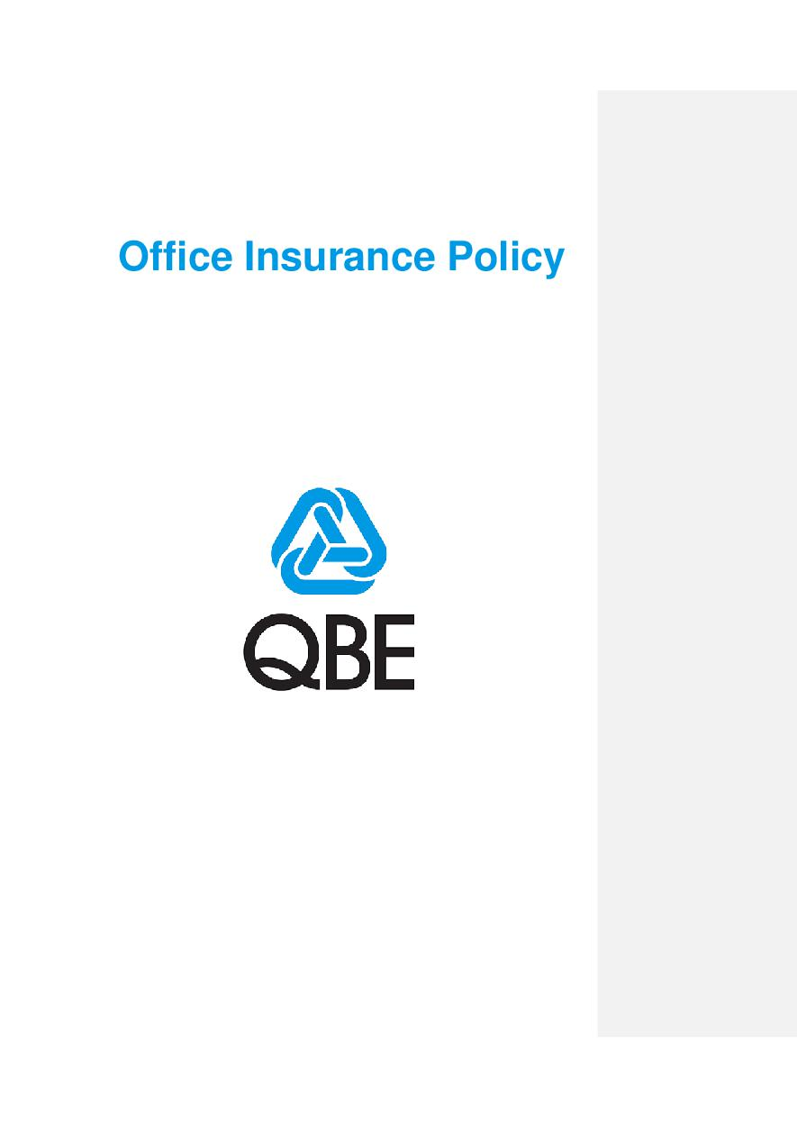 OFP250518 Office Insurance Policy