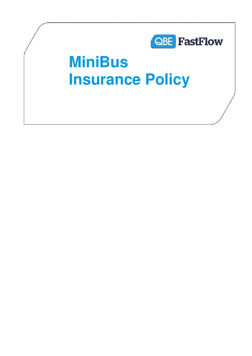 PMBP250518 Minibus Insurance Policy