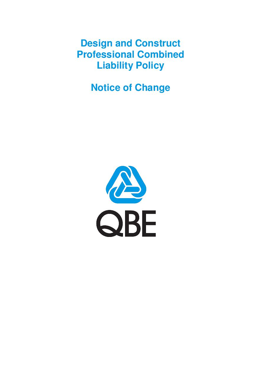 NJDD250518 QBE Design and Construct Professional Combined Liability Notice of Change