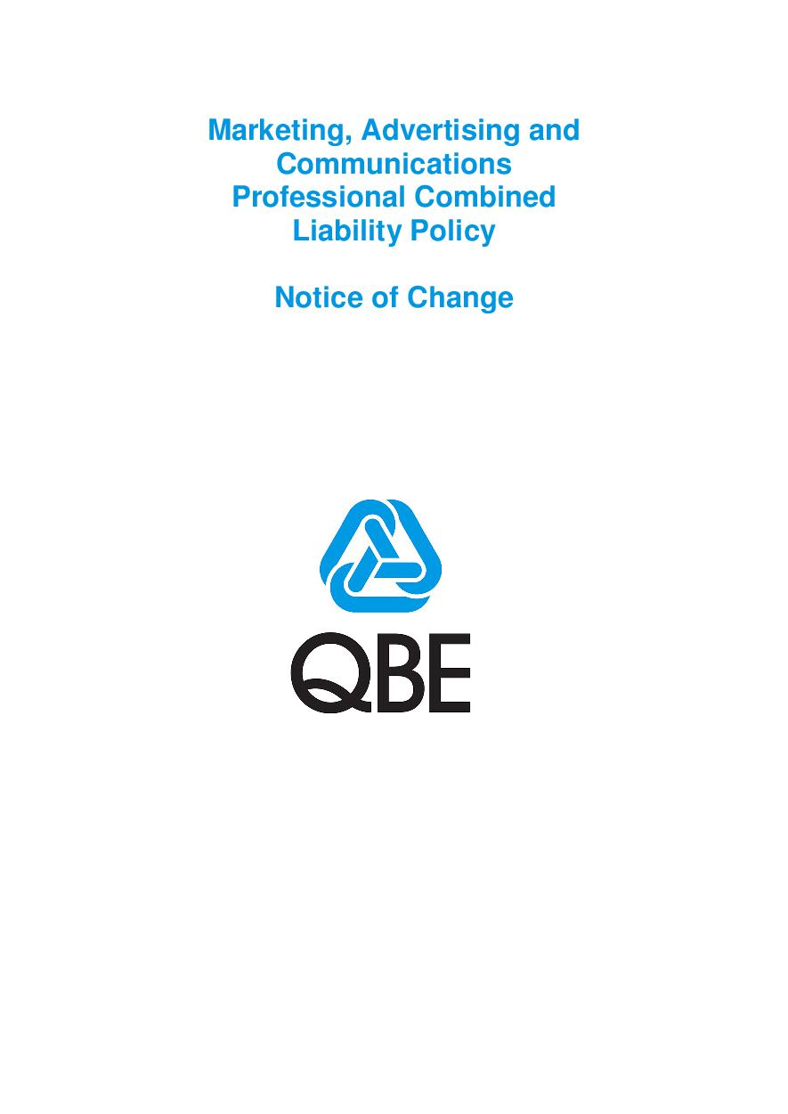 NJME250518 QBE Marketing Advertising and Comm Professional Combined Liability Notice of Change