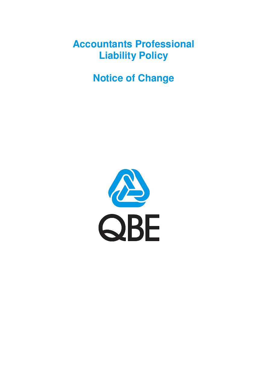 NJPP250518 QBE Accountants Professional Liability Notice of Change