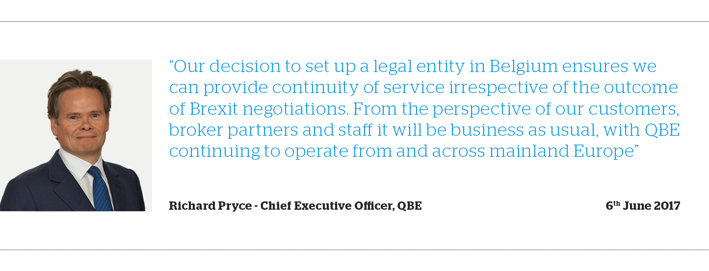 Richard Pryce, CEO of QBE European Operations quote
