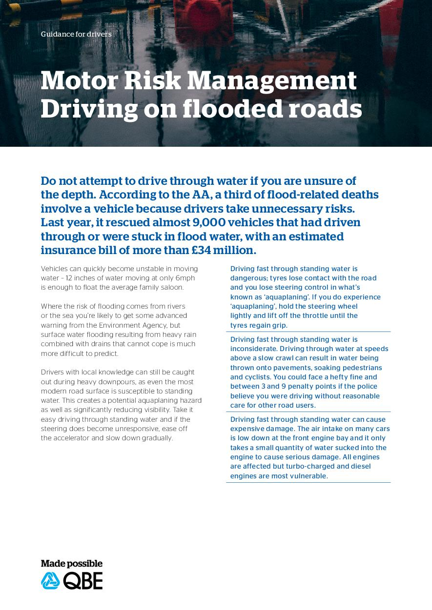 Driving on flooded roads