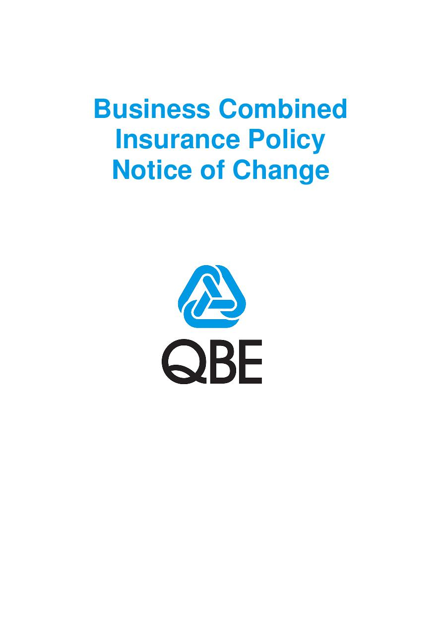 NBCC010119 Business Combined Insurance Policy Notice of Change