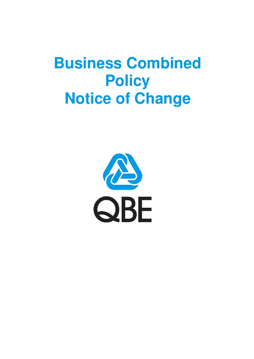 NBCP010119 Business Combined Policy Notice of Change