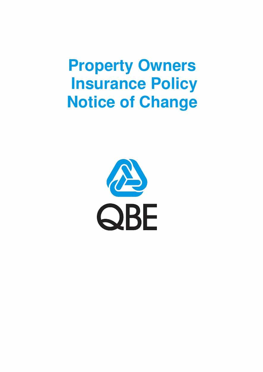NPOF010119 Property Owners Insurance Policy Notice of Change