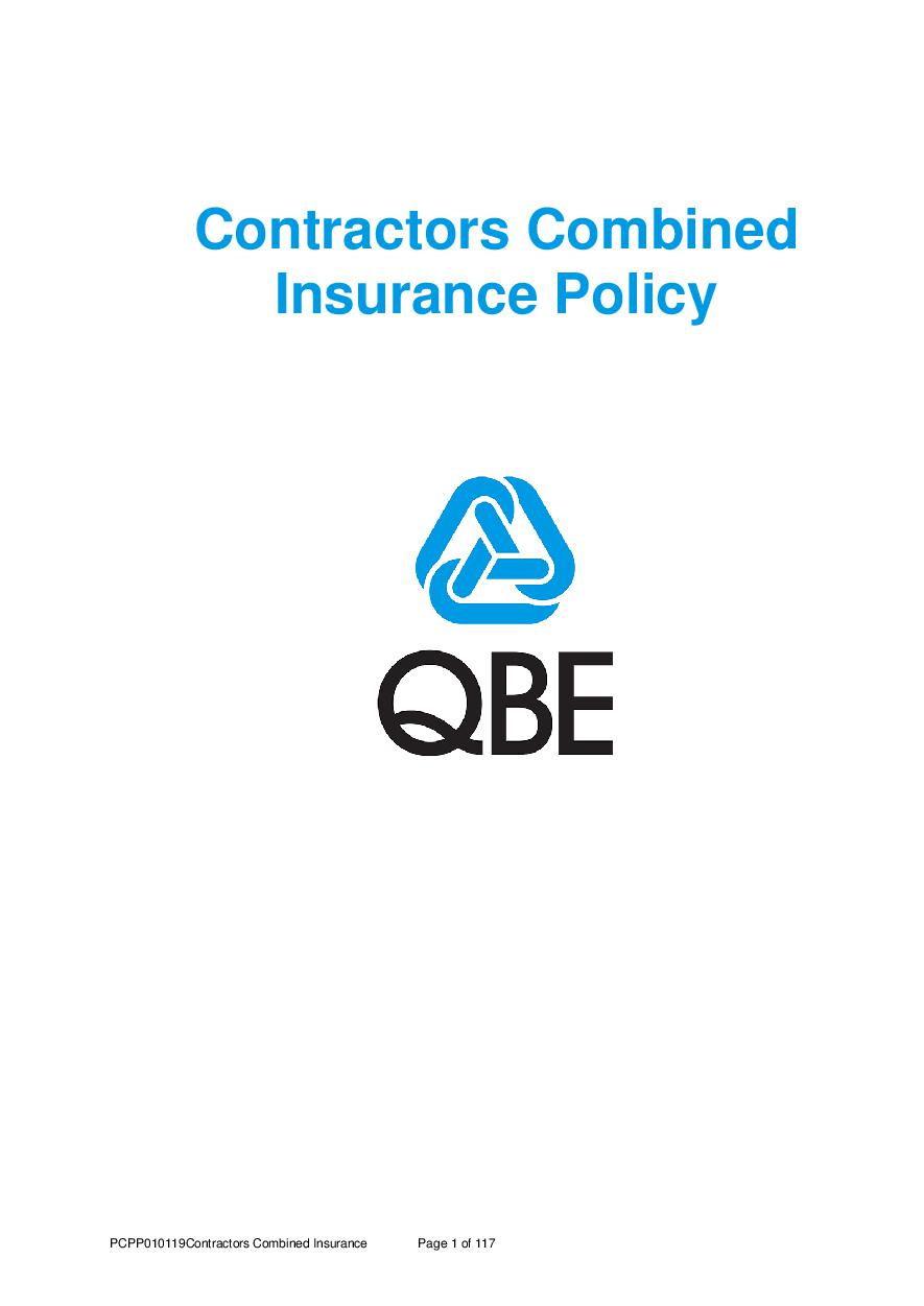 PCPP010119 Contractors' Combined Policy