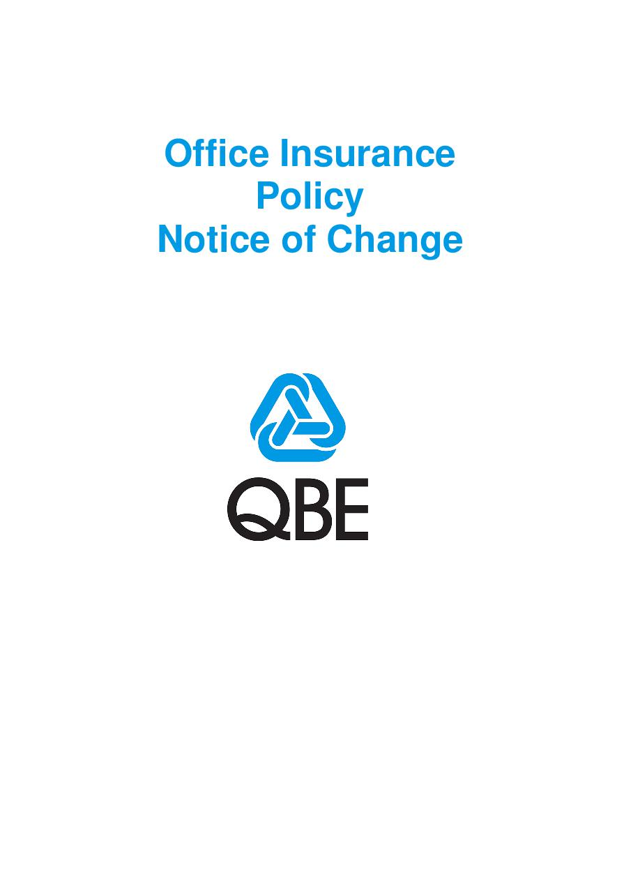 NOFF010119 Office Insurance Policy  Notice of Change