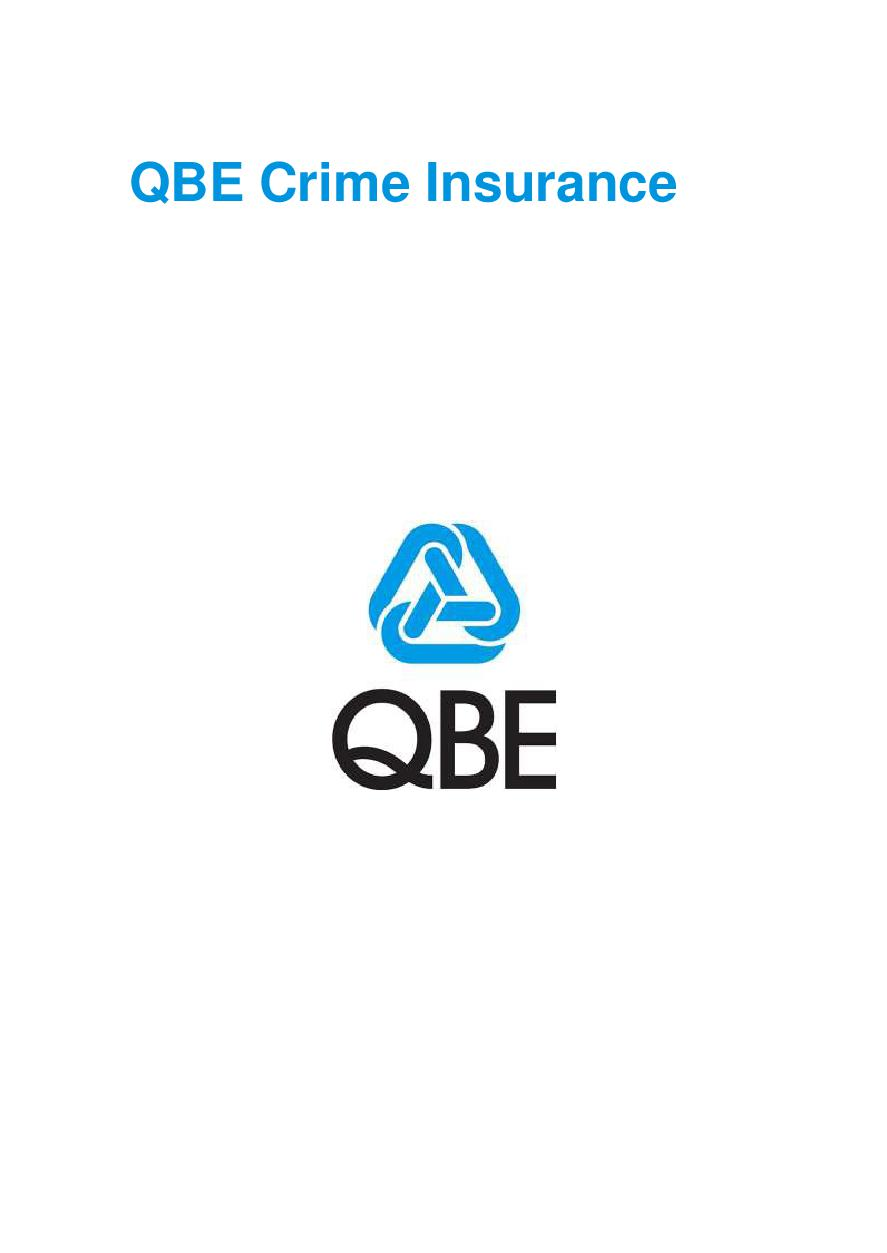 PCRS010119 QBE Crime Insurance Policy