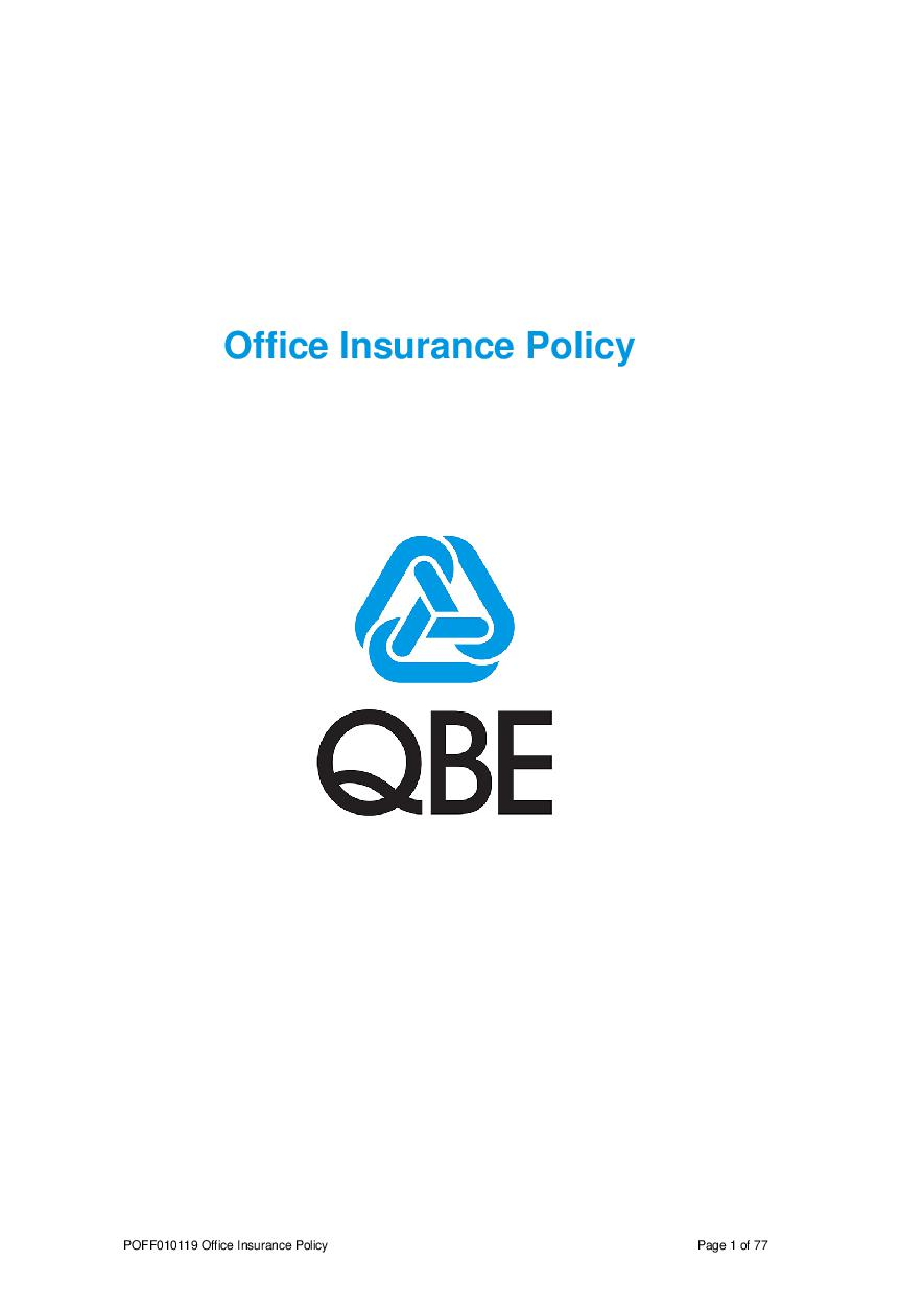 POFF010119 Office Insurance Policy