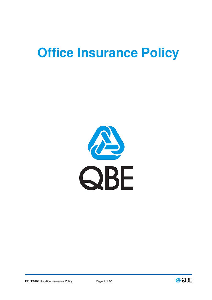 POFP010119 Office Insurance Policy