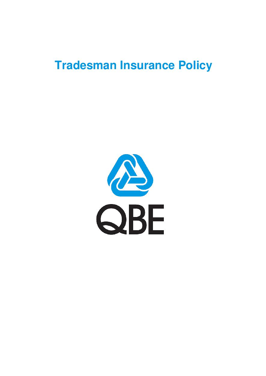 PTRA0100619 Tradesman Insurance Policy