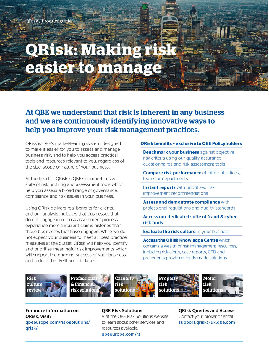 QRisk: making risk easier to manage