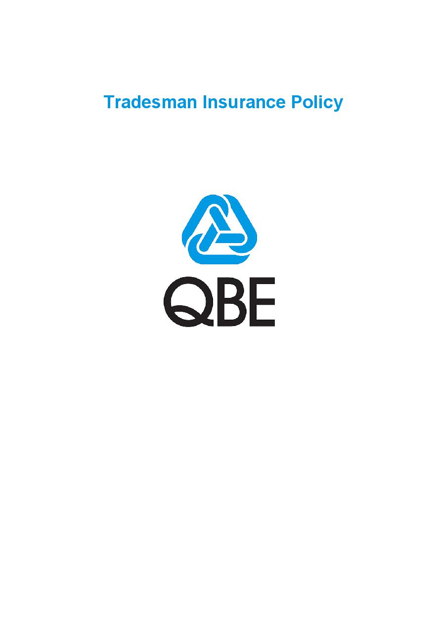 PTRA100619 Tradesman Insurance Policy (Imarket)