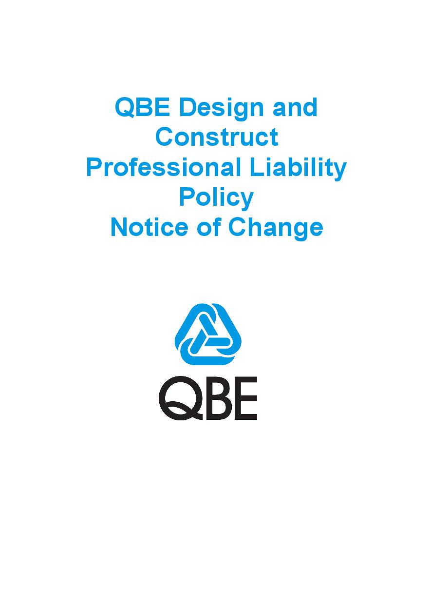 NJPE060819 QBE Design and Construct Professional Liability Policy   Notice of Change