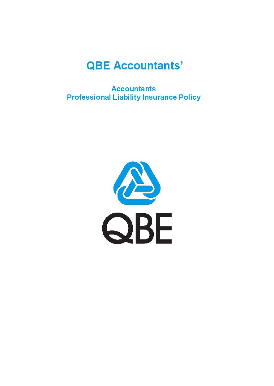PJPP060819 QBE Accountants Professional Liability Policy