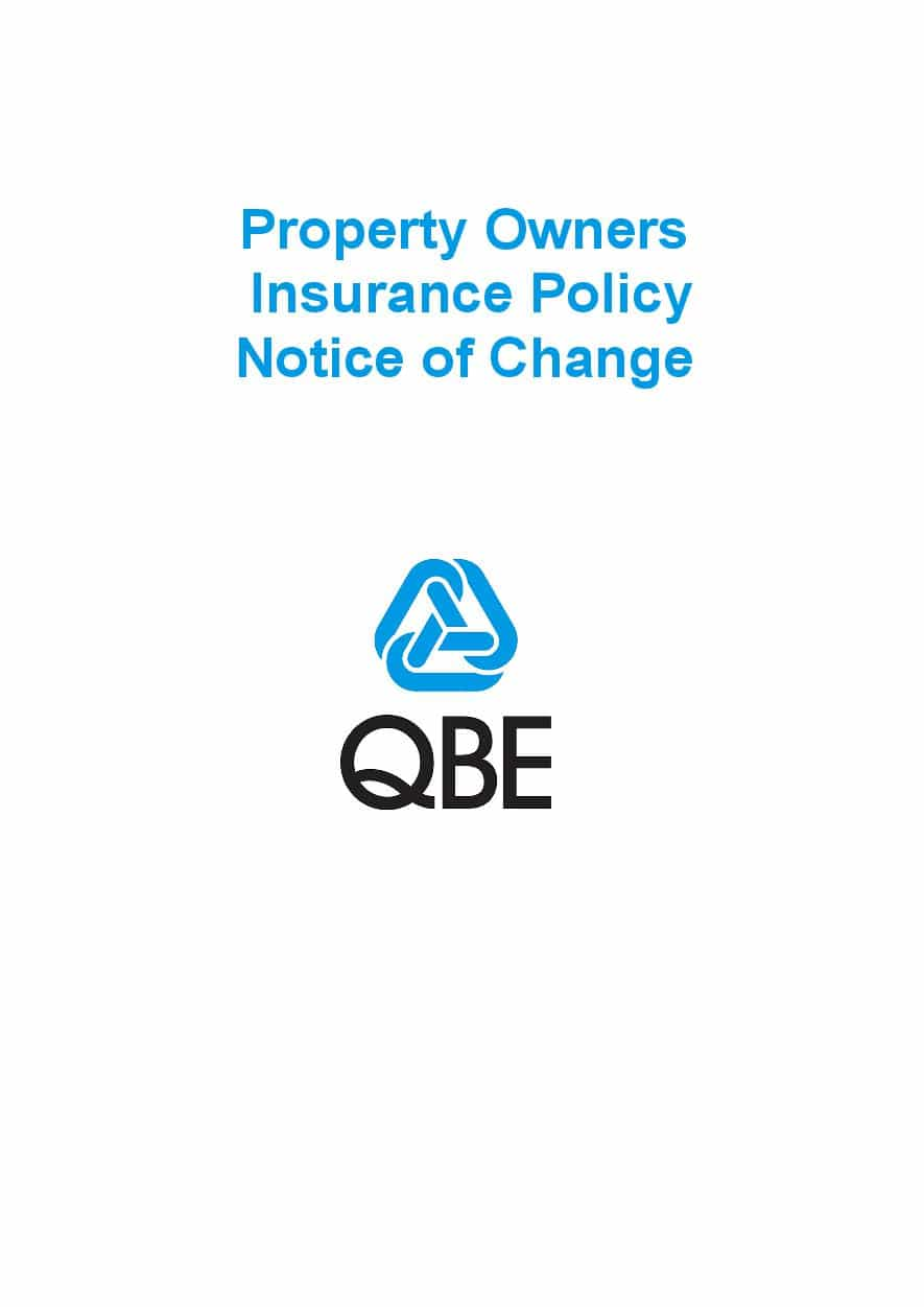 NPOF070819 Property Owners Insurance Policy  Notice of Change