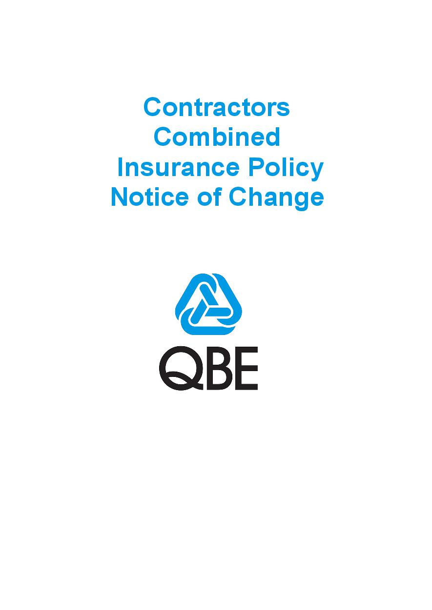NCPP030819 Contractors Combined Insurance Policy  Notice of Change