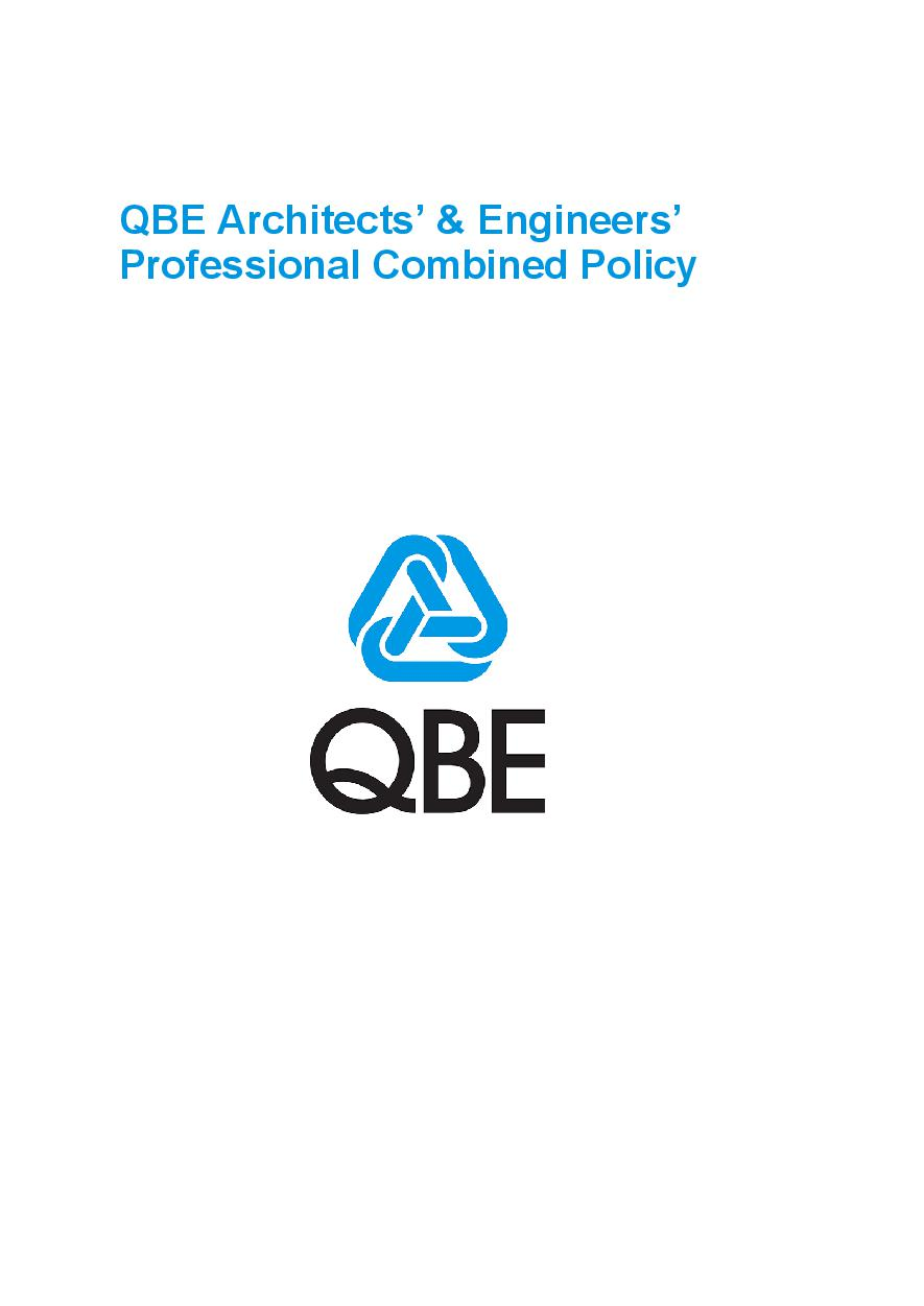 PJAS090819 QBE Architects and Engineers Professional Combined Liability Policy