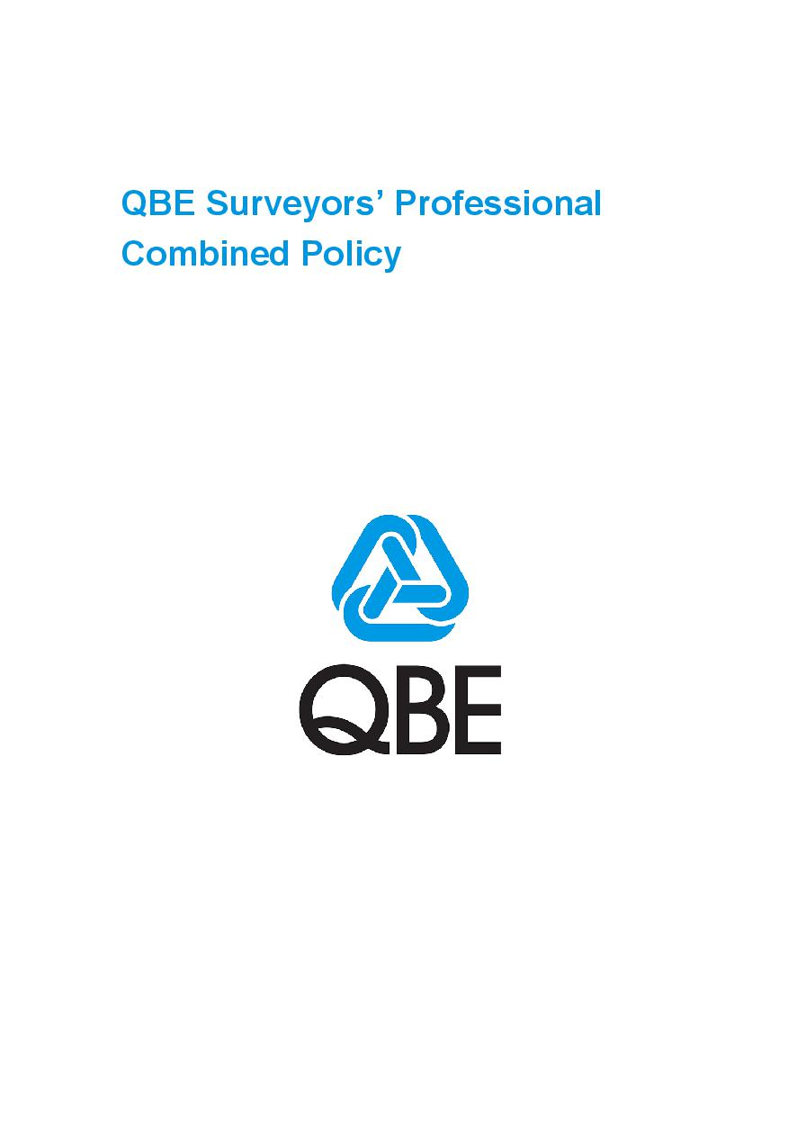 PJCT090819 QBE Surveyors Professional Combined Liability Polic