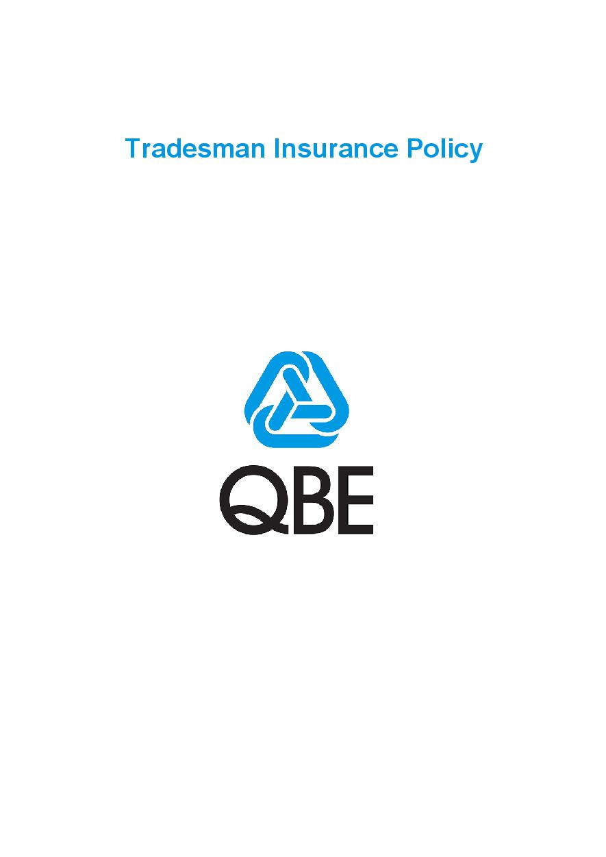 PTRA050919 Tradesman Insurance Policy