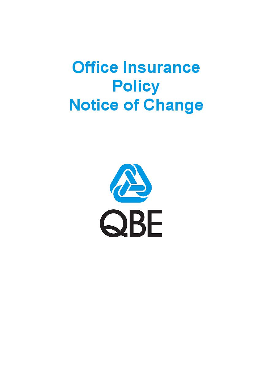 NOFF170919 Office Insurance Policy  Notice of Change