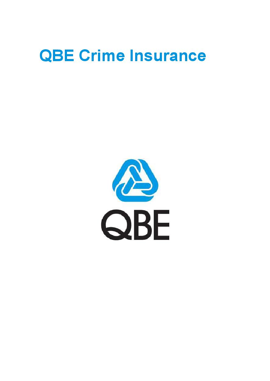 PCRS040919 QBE Crime Insurance Policy