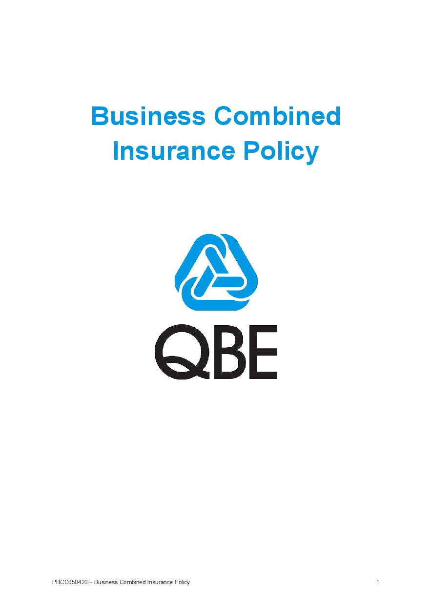 PBCC050420 Business Combined Insurance Policy