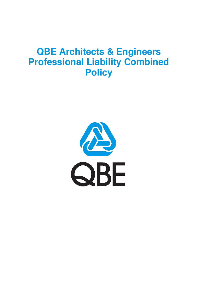 PJAS100520 QBE Architects and Engineers Professional Liability Combined Policy