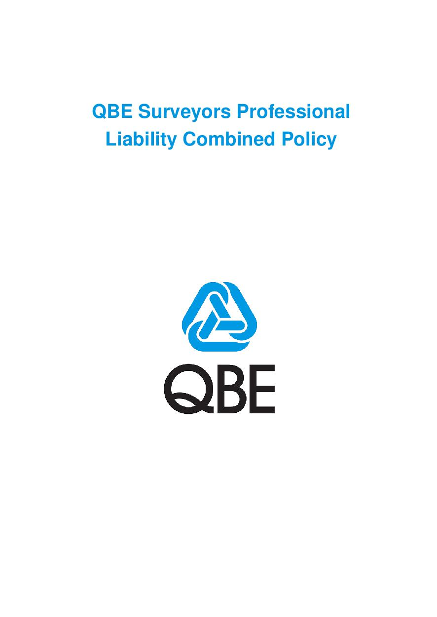 PJCT100520 QBE Surveyors Professional Liability Combined Policy