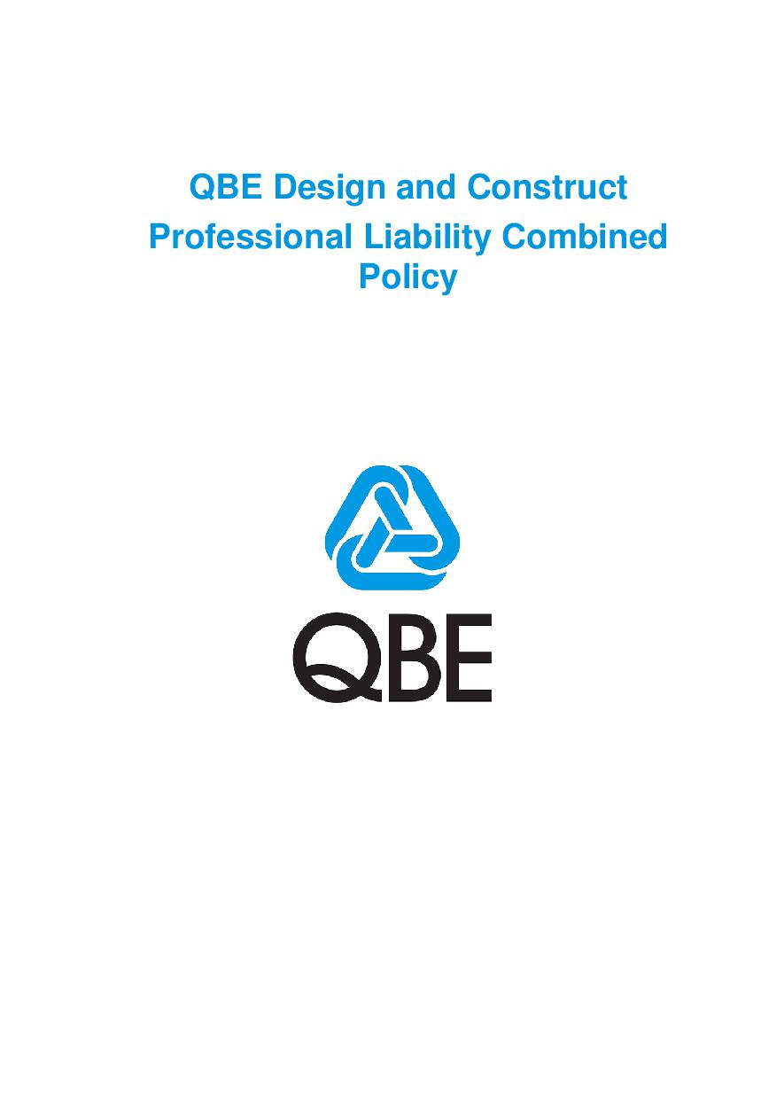 PJDD100520 QBE Design and Construct Professional Liability Combined Policy