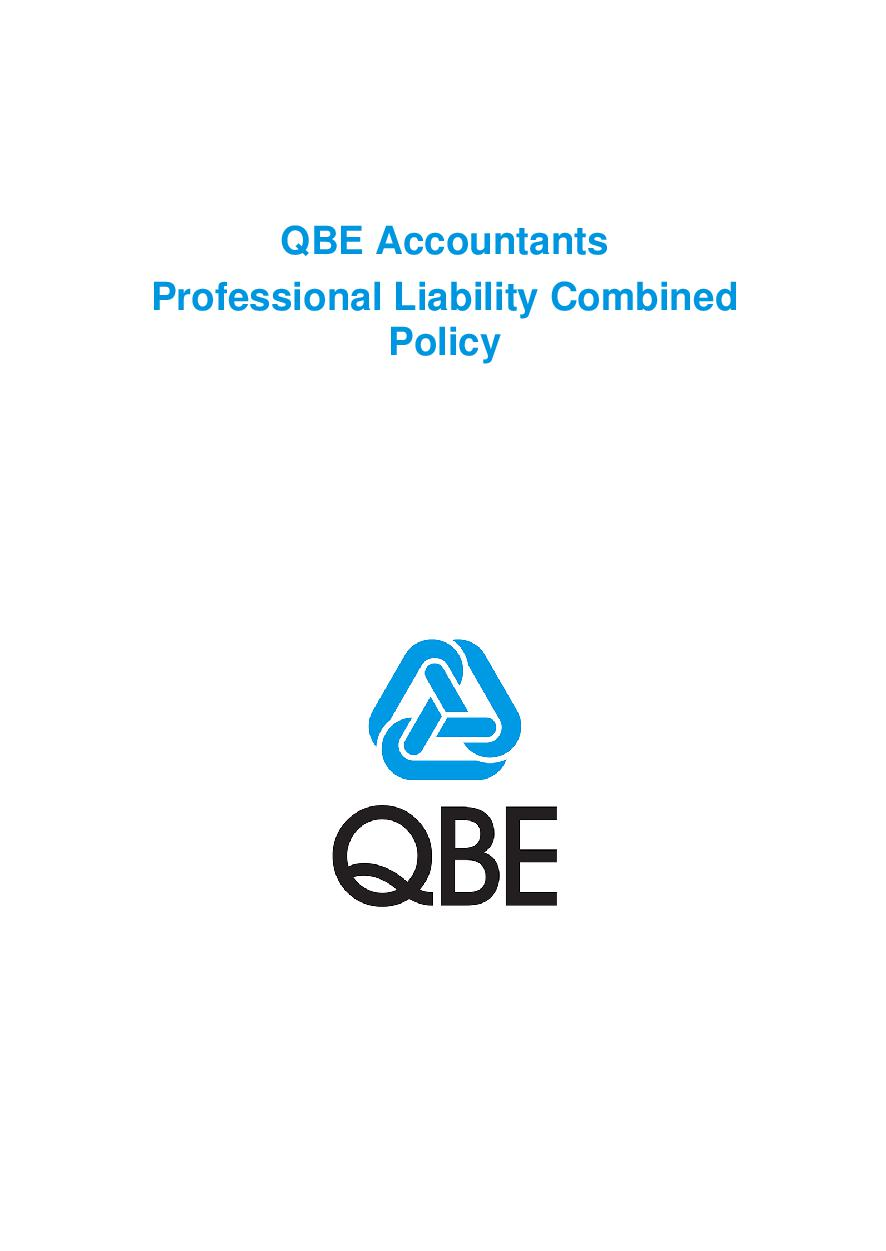 PJPB100520 QBE Accountants Professional Liability Combined Policy