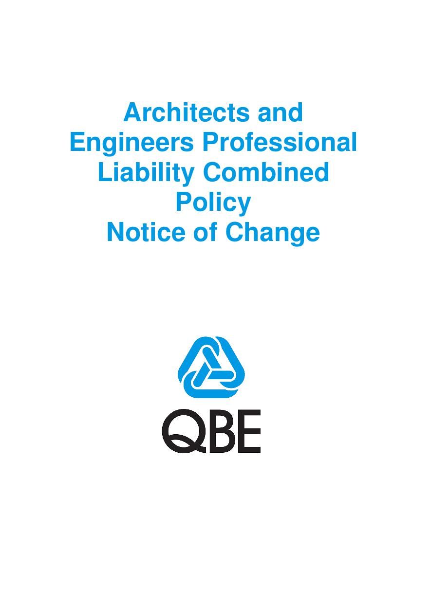 NJAS100520 Architects and Engineers Professional Liability Combined Notice of Change