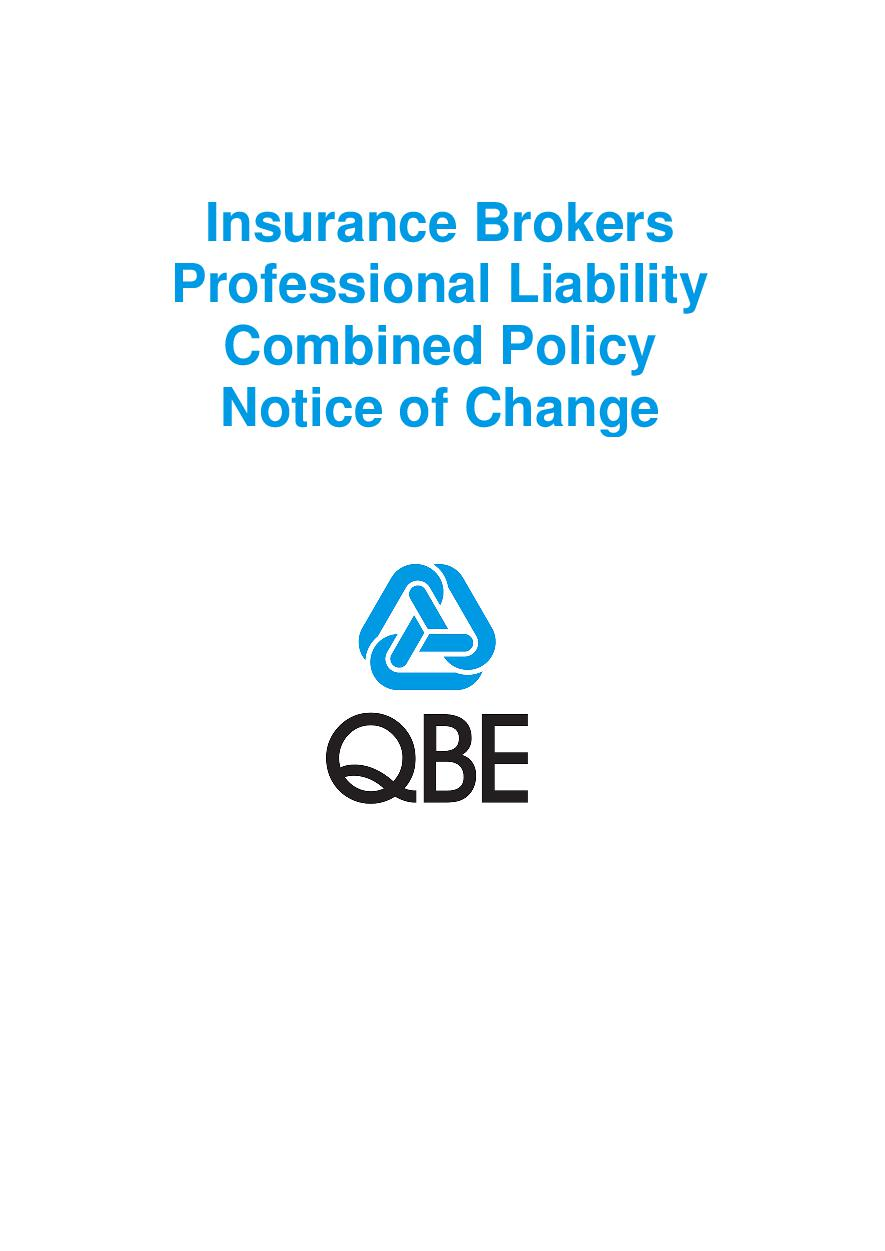NJBL100520 Insurance Brokers Professional Liability Combined Notice of Change