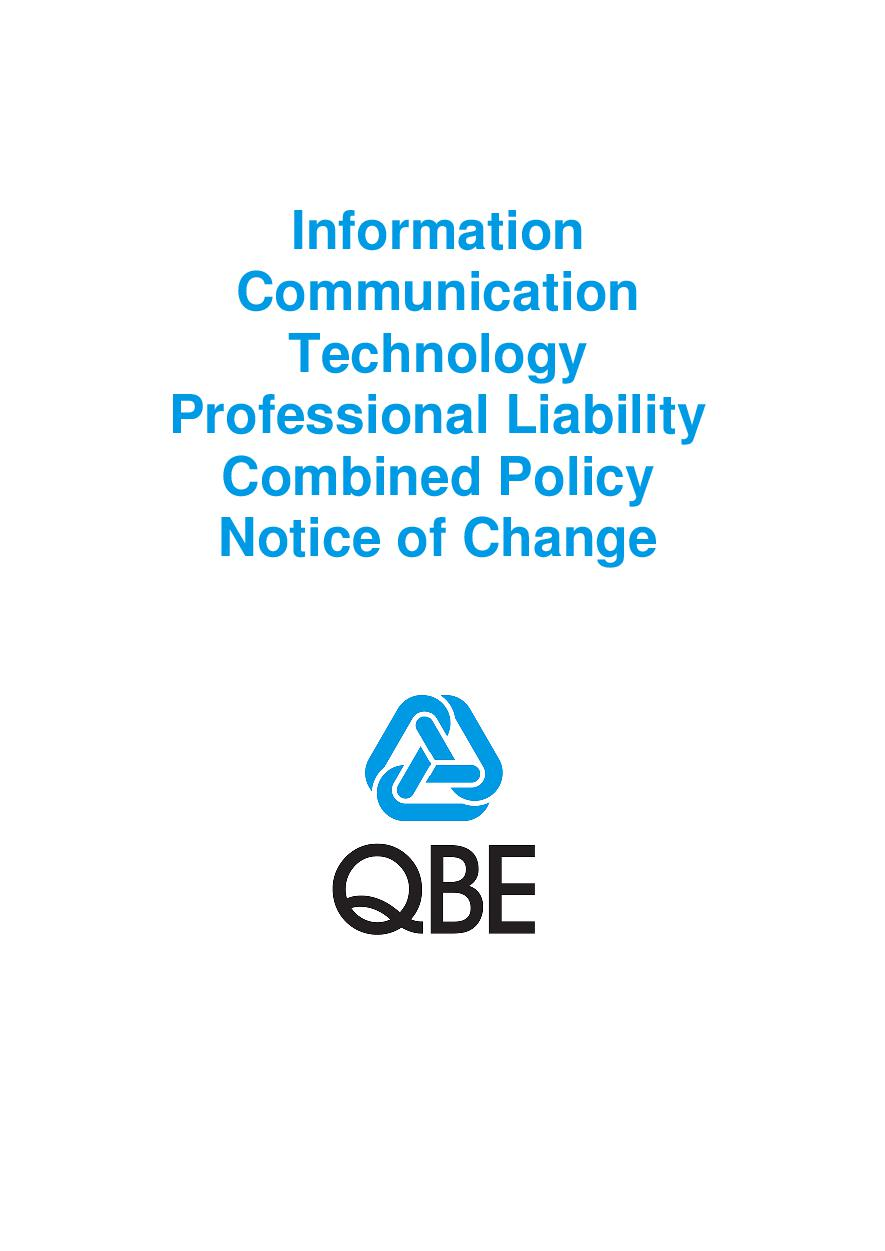 NJPV100520 Information Communication Technology Professional Liability Combined Notice of Change