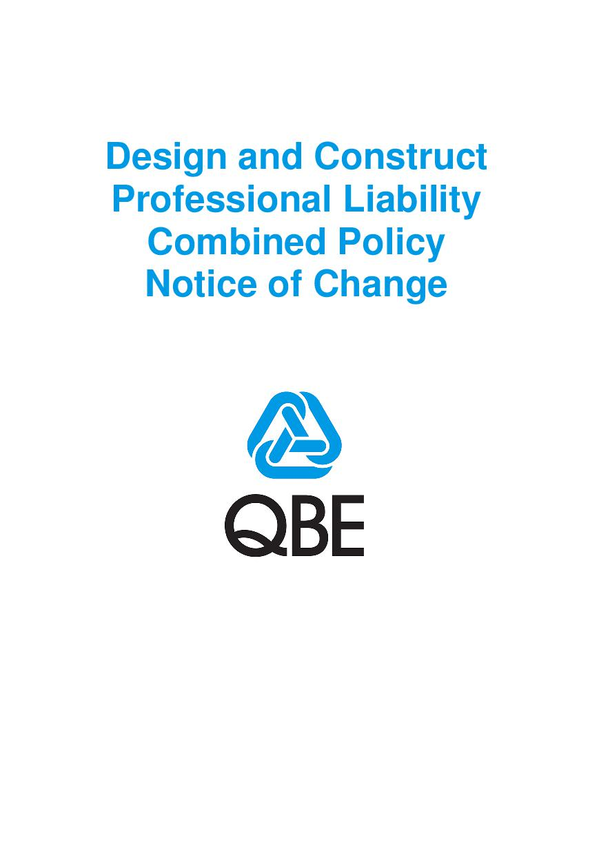 NJDD100520 Design and Construct Professional Liability Combined Notice of Change