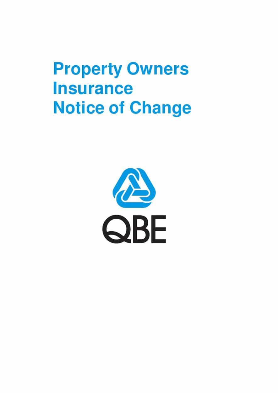 NPOF101120 Property Owners Insurance - Notice of Change