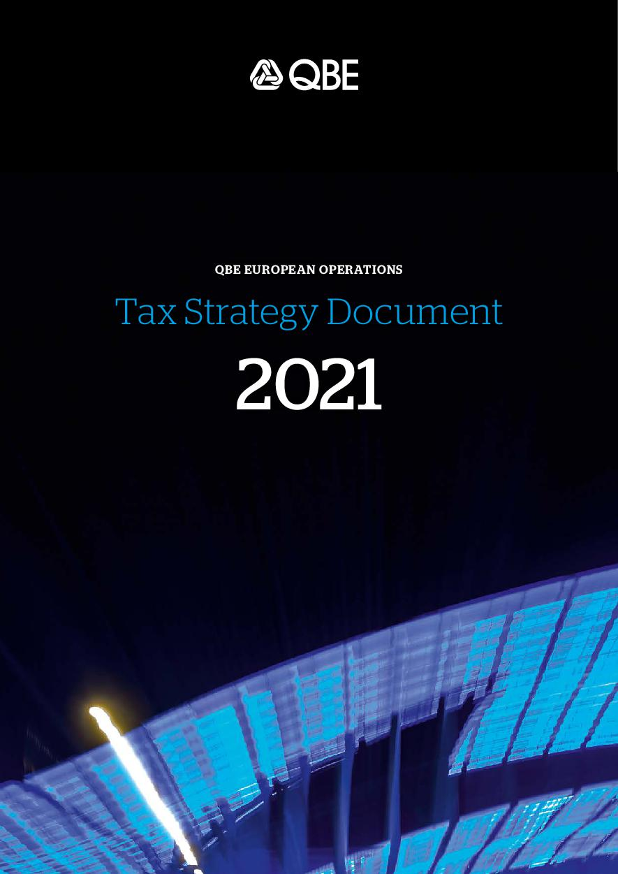 QBE European Operations Tax Strategy Document 2021
