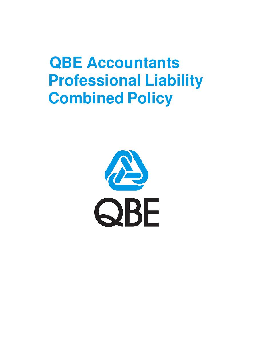 PJPB110121 QBE Accountants Professional Liability Combined Policy