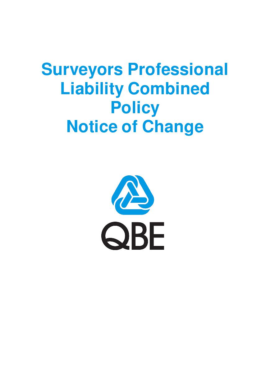NJCT110121 Surveyors Professional Liability Combined Notice of  Change